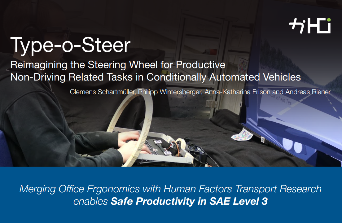 Type-o-Steer: Reimagining the Steering Wheel for Productive Non-Driving Related Tasks in Conditionally Automated Vehicles